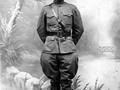 Future president Harry S. Truman as a Captain in the U. S. army in WWI, France, 1918