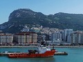 Panorama of Gibraltar from the Sea by Stephen Frost