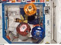 "Astronauts to Test Free-Flying ""Housekeeper"" Robots Image Credit:  NASA NASA Ames' Smart SPHERES, a ..."