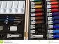 artists set of tubes of paint, brushes, pencils and other tools. #still-life #stock #photography #500pxrtg