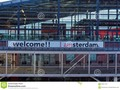 A 'Welcome I Amsterdam' slogan at the rail station of the city. #amsterdam #building #capital