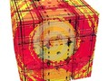A box with an abstract image of a sad girl or child.. A digitally produced fractal image. #abstract #box #child