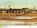 Blackpool beach looking towards Central Pier at low tide. #architecture #Blackpool…