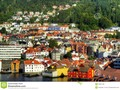 A view from the sea of Bergen, which is a city in Hordaland on the wes of Norway. …
