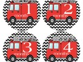Fire Engine Monthly Stickers Fire Truck Stickers Baby Photo via Etsy #pottiteam
