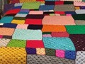 Patchwork Design Afghan Extra Large - Mixed Size Squares via Etsy