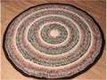 Large Round Rug / Thick Yarn Rug 50 inches Crocheted via Etsy
