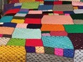 Patchwork Design Afghan Extra Large, 50th birthday best friend,- Mixed Size Squares via Etsy