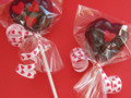Cherry Valentine Chocolate Heart  Pops