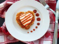 Chicken Parmesan Valentine Hearts