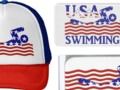 USA Swimming - All-American Design - swimming in red and white waves. #sports4you #gravityx9 -
