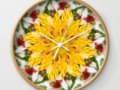 K137 Yellow Flower Kaleidoscope Wall Clock #Society6 #Gravityx9 #homedecor -