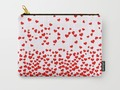 Falling Hearts Carry-All Pouch by #Gravityx9. Worldwide shipping available at #Society6 -