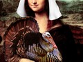 MONA LISA THANKSGIVING Greeting Cards, Prints, Home Decor at #Pixels #FineArtAmerica #Gravityx9 #spoofingthearts -