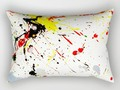 Paint Splatter Rectangular Pillow by #Gravityx9. Worldwide shipping available at #Society6 -