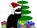 LE CHAT NOIR CHRISTMAS Greeting Cards, Prints and Home Decor at #Pixels #FineArtAmerica #Gravityx9 -