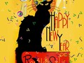 LE CHAT NOIR HAPPY NEW YEAR Greeting Cards, Prints and Home Decor at #Pixels #FineArtAmerica #Gravityx9 -