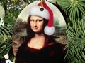 #iLoveXmas! Celebrate the Christmas Season with a Mona Lisa Christmas Ornament at #SpoofingTheArts \ #Zazzle! -