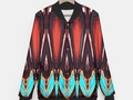 K172 Wood and Turquoise Abstract Baseball Style Jacket at #LiveHeroes by #Gravityx9 -