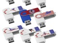 Stocking Stuffer Ideas - Patriotic USA Colors design these USB Flash Drives available in 8,16,32 & 64 GB capacity.……