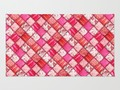 Faux Pink #Patchwork #Quilting Throw Rug by #gravityx9 #Society6 #homeDecor -
