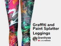 Check out these colorful leggings at #LiveHeroes by #Gravityx9 !  Graffiti and Paint Splatter Leggings -…