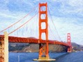 (Painting-like) SAN FRANCISCO GOLDEN GATE BRIDGE Greeting Cards, Prints and Home Decor at #Pixels #Gravityx9 -