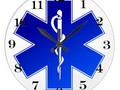 Medical EMS Symbol Large Clock - The numbers are removable, add background color and available in two sizes!…