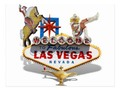 Send a quick note with this postcard ~ Las Vegas Welcome Sign with three famous Las Vegas Icons. Postcard…