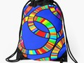 Rainbow Rings Drawstring Tote Bag by #Gravityx9 Designs at #Redbubble -
