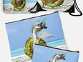 Silly Goose ! Goose at the Beach - This goose is ready to start summer vacation! Inner tube, sun glasses and floppy…
