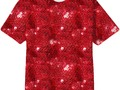 Red Sequin-Look Print All Over Tee Shirt at PrintAllOverMe #Gravityx9 Designs #PAOM -