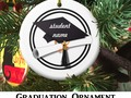 Graduation Cap with Black Circle Ceramic Ornament by #Just4grad ~ #Gravityx9 Designs at Zazzle…