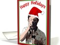 Happy Holidays with Photographer & Santa Hat #ChristmasCard by #Gravityx9 at #GreetingCardUniverse ~ Cards mailed t…