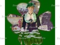 Irish Lass Bartender in Shamrock Poster by #Spoofingthearts at #Zazzle ~ available in several size