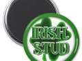 ** St. Patrick's Day Irish Stud Magnet ~ This round magnet is available in several size options. A square shape but…