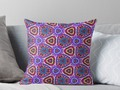 - Purple Doodles - Hidden Smiles Pillows by #Gravityx9 - Purple Doodles – Within the hand d…