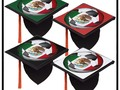 Soccer Fan's Graduation Cap Topper with the Strong Eagle from Mexico's Flag - VIVA MEXICO! Stand out and make a sta…