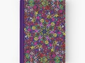 "**""Flower Power Doodle Art"" Hardcover Journals by Gravityx9 