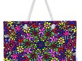 Flower Power Doodle Art Weekender Tote Bag by #Gravityx9 Designs at #Pixels #ShopPixels #FineArtAmerica ~…