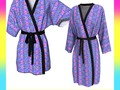 Ultra Violet Stripes & Floral Pattern Robes by #Gravityx9 at #ArtofWhere ~  This design is also available on fashio…