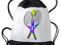 * #Backtoschoolshopping ~ * Tennis Rackets and Ball Drawstring Backpack by #Gravityx9 at #Cafepress #sports4you *