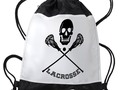 * #Backtoschoolshopping ~  * Skull and Lacrosse Sticks Drawstring Backpack by #Gravityx9 at #Cafepress *