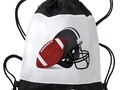 ~ #Backtoschoolshopping ~ * Football And Helmet Drawstring Backpack by #Gravityx9 at #Cafepress #sports4you *