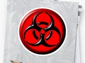 """Toxic Biohazard Symbol"" Stickers by #Symbolical 