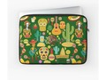 * Fiesta Time! Mexican Icons Laptop Sleeve by #Gravityx9 at #Redbubble ~ #VivaMexico! Fun illustrations of sombrero…