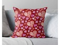 "* ""Doodle Art - Red and Pink Hearts"" Throw Pillows by #Gravityx9 