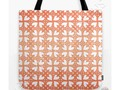 * Living Coral Hearts Pattern Tote Bag by #Gravityx9 at #Society6 * * #totebags #canvastotebag #casualbag…
