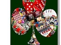 """Club - Las Vegas Playing Card Shape "" Greeting Cards by Gravityx9 