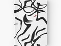 """Modern Art Abstract Woman"" Hardcover Journals by Gravityx9 